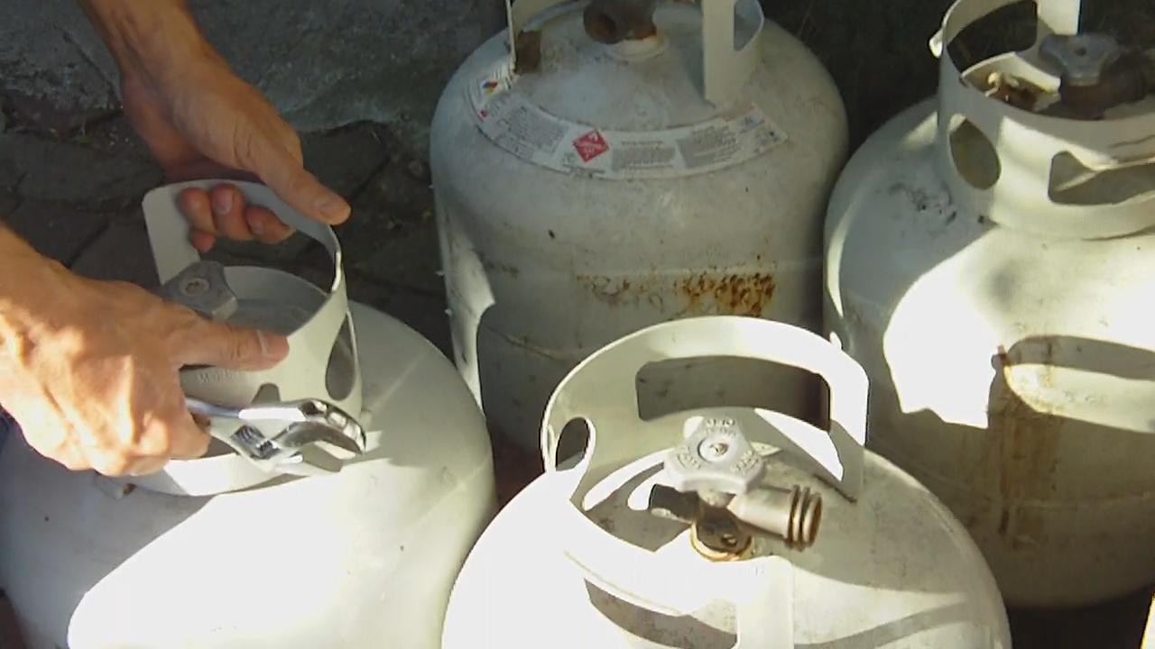 Standard 20lb propane cylinders